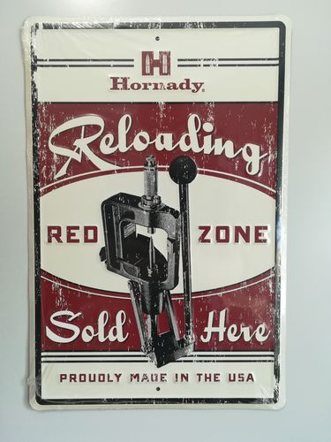 "Hornady #99130 Vintage Blechschild ""Red Zone"""
